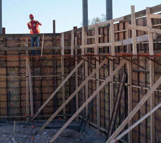 A guy working in the Construction site of Enterprise Network Solutions